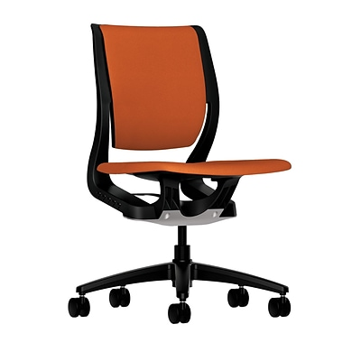 HON® Purpose® Mid-Back Computer Chair, Upholstered, Tangerine