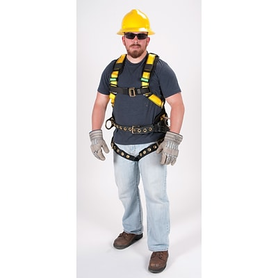 MINE SAFETY APPLIANCES CO. (MSA) Polyester Full Body Harness with Belt