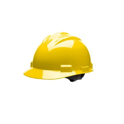 BULLARD Polyethylene & Plastic Hard Hat with Ratchet Suspension Standard