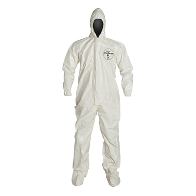 DUPONT Tyvek Chemical Resistant Coverall, 2XL