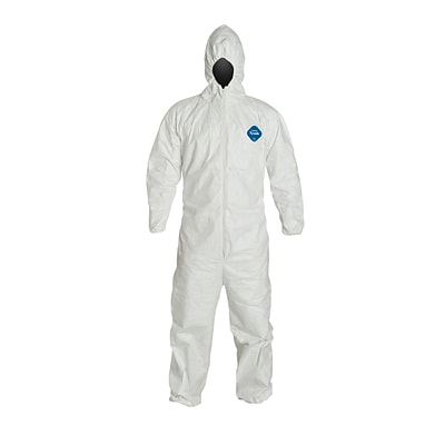 DUPONT Tyvek Disposable Coverall with Hood, Medium