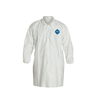 DUPONT Tyvek Lab Coat, Large, 30/Ct