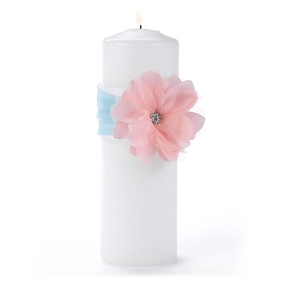 Hortense B. Hewitt Unity Candle with Wrap; Pretty Pastels