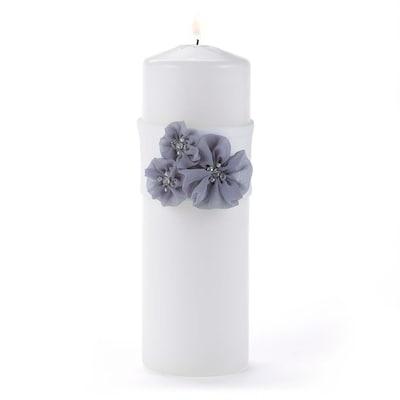 HBH Glamorous Grey Unity Candle w Wrap