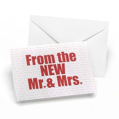 Hortense B. Hewitt Wedding Accessories The New Mr. and Mrs. Thank You Cards