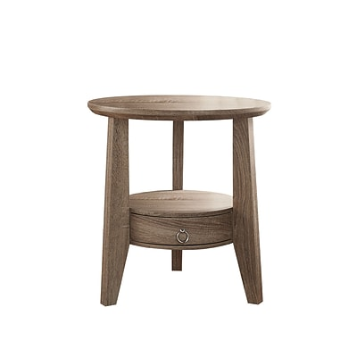 Monarch Specialties Inc. I 2493 23 Accent Table with 1-Drawer, Dark Taupe
