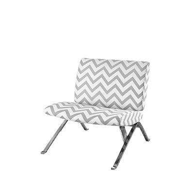 Monarch Specialties Inc. I 8135 Fabric Accent Chair, Gray