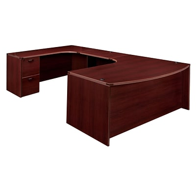 DMI® Fairplex Collection in Mahogany, 29 Laminate Left Executive Work Station U-Desk