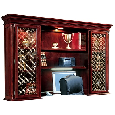 DMI Office Furniture Keswick 799063 2-Cabinet Executive Overhead Storage; Wire Mesh Doors