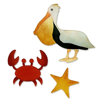 Sizzix Crab, Pelican & Starfish Die Multi-Colored 5.5 x 6