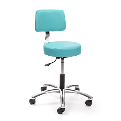 Brandt Airbuoy 17422 14 Pneumatic Stool with Backrest, Aqua