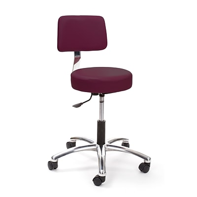 Brandt Airbuoy 17422 14 Pneumatic Stool with Backrest, Burgundy