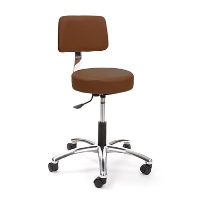 Brandt Airbuoy 17422 14 Pneumatic Stool with Backrest, Chestnut Brown