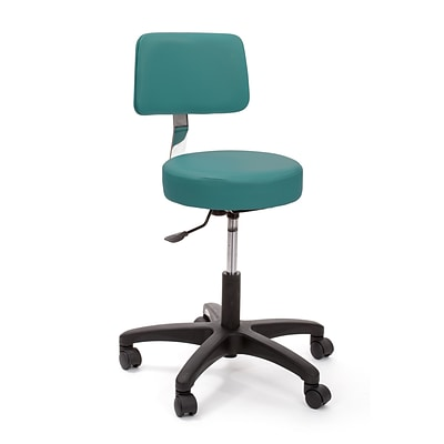 Brandt Econobuoy 13422 14 Pneumatic Stool with Backrest, Teal