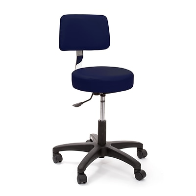 Brandt Econobuoy 13422 14 Pneumatic Stool with Backrest, Navy