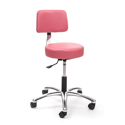 Brandt Airbuoy 17422 14 Pneumatic Stool with Backrest, Tea Rose