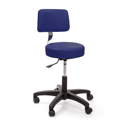 Brandt Econobuoy 13422 14 Pneumatic Stool with Backrest, Slate Blue