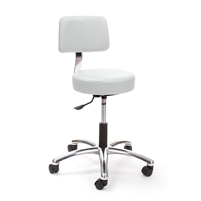 Brandt Airbuoy 17422 14 Pneumatic Stool with Backrest, Ivory