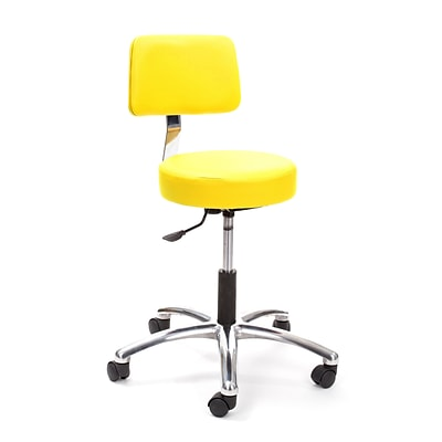 Brandt Airbuoy 17422 14 Pneumatic Stool with Backrest, Lemon