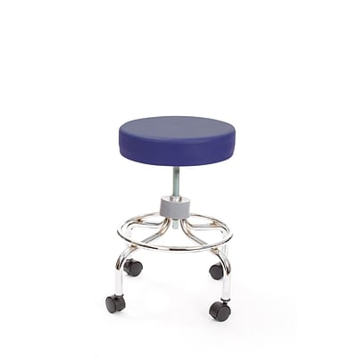 Brandt 22211 Revolving Stool with Footrest, Slate Blue