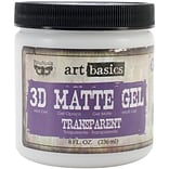 Transparent 8 fl.oz. 3D Matte Gel