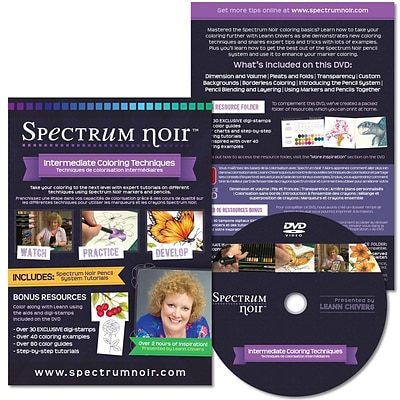 Crafters Companion Spectrum Noir Intermediate Coloring Techniques DVD Package