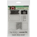 Penny Black® 5 x 6 1/2 Sheet Clear Stamp Set, Remember This