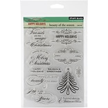 Penny Black® 5 x 7 1/2 Sheet Clear Stamp Set, Beauty Of The Season