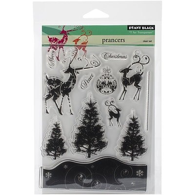 Penny Black® 5 x 7 1/2 Sheet Clear Stamp Set, Prancers
