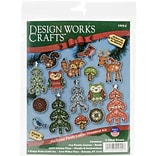Tobin 14 Count Plastic Ornament Canvas Kit, Woodland Friends