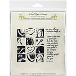 Class Act 5 3/4 x 6 3/4 Chapel Road Cling Mounted Rubber Stamp Set, Clock Works