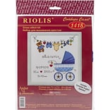 RIOLIS® 28 Count Counted Cross Stitch Kit, 8 x 8, Its A Boy! Birth Record