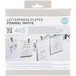 Formal Invite Lifestyle Letterpress Plates