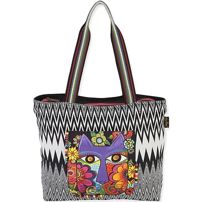 Laurel Burch® 17 x 13 Shoulder Tote, Blossoming Feline