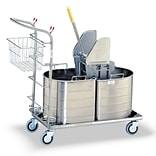 Royce Rolls 1C Series Half Oval Double Tank Mopping Unit; 10 Gal