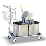 Royce Rolls 1C Series Half Oval Double Tank Mopping Unit; 7.5 Gal