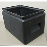 Forte Product Solutions All-Purpose Cubby Bin (Set of 12); Black
