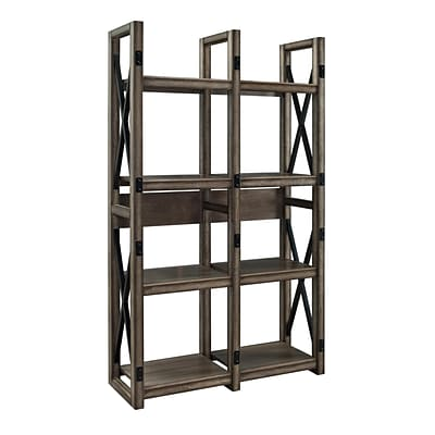 Altra Furniture Wildwood 9631096 60 Engineered Wood Bookcase, Rustic Gray