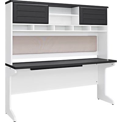 Altra Furniture Pursuit 9847296 65W Engineered Wood Credenza Desk, White/Gray