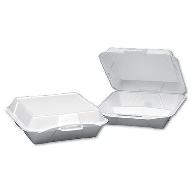 GENPAK 3 Compartment Foam Hinged Dinner Container