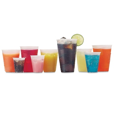 FABRI KAL Ribbed Cold Drink Cup, 9 Oz.