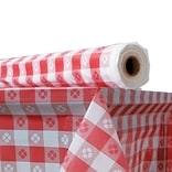 ATLANTIS PLASTICS Table Cover, Red Gingham