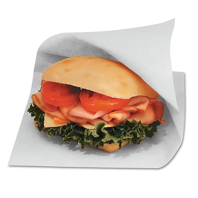 Wax-Coated Paper Bagcraft Papercon Open-Side Grease-Resistant Sandwich Bags, 8/Pack