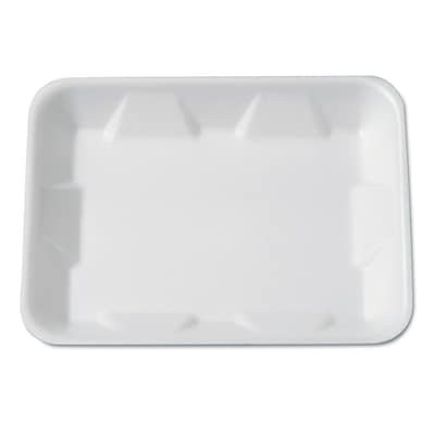 Genpak® Supermarket Tray, Foam, White, 9-1/4 x 7-1/4 x 4/5, 125/Bag