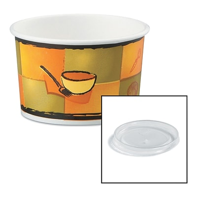 HUHTAMAKI FOODSERVICE Chinet Streetside Paper Food Container with Plastic Lid