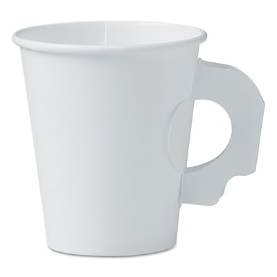 SOLO CUP COMPANY White Handled Hot Paper Cup, 6 Oz.