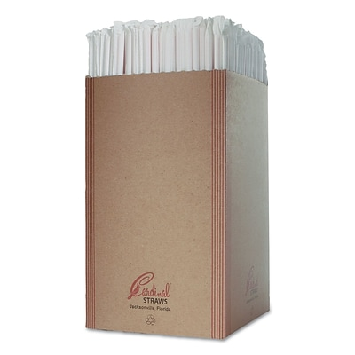 CARDINAL PRODUCTS Wrapped Jumbo Straws
