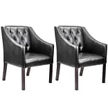 CorLiving™ Antonio Bonded Leather Accent Club Chair, Black, 2/Pack