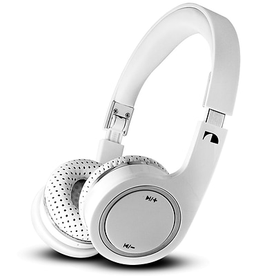 Nakamichi® BTHP03 On-The-Ear Bluetooth Headphones; White