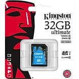 Kingston® SDA10/32GB Ultimate Class 10 UHS-I 32GB SDHC Flash Memory Card